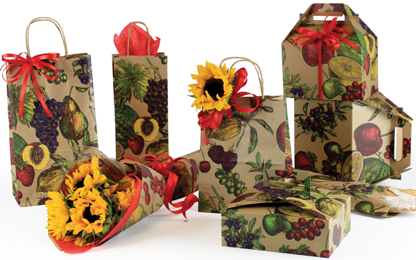 Fruit Bowl Paper Shopping Bags