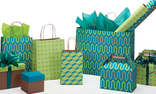 Geo Trio Paper Shopping Bags