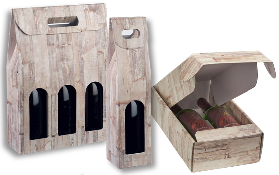 Barn Wood Wine Packaging