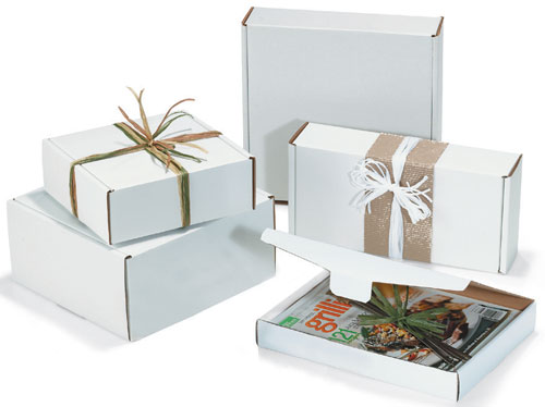 White Kraft Corrugated Boxes