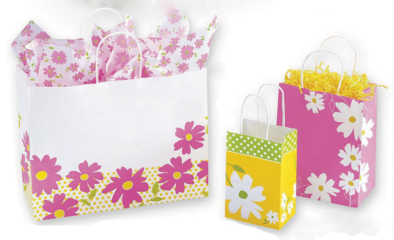 Dashing Daisy Paper Shopping Bags