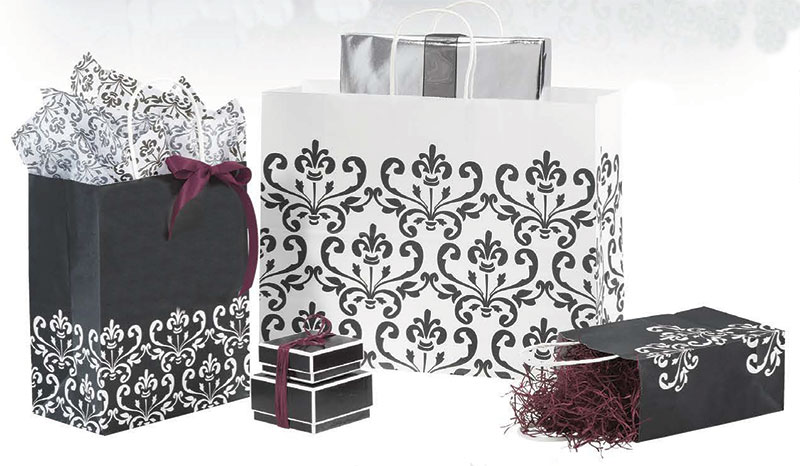 Ebony Chic Paper Shopping Bags