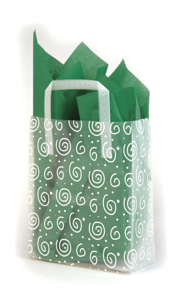 Swirls Frosted Shopping Bags