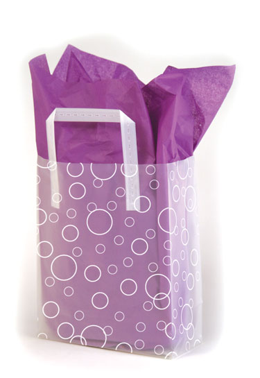 Bubbles Frosted Shopping Bags