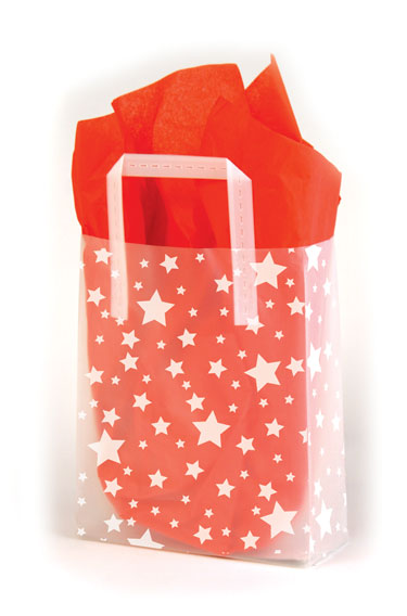 Stars Frosted Shopping Bags
