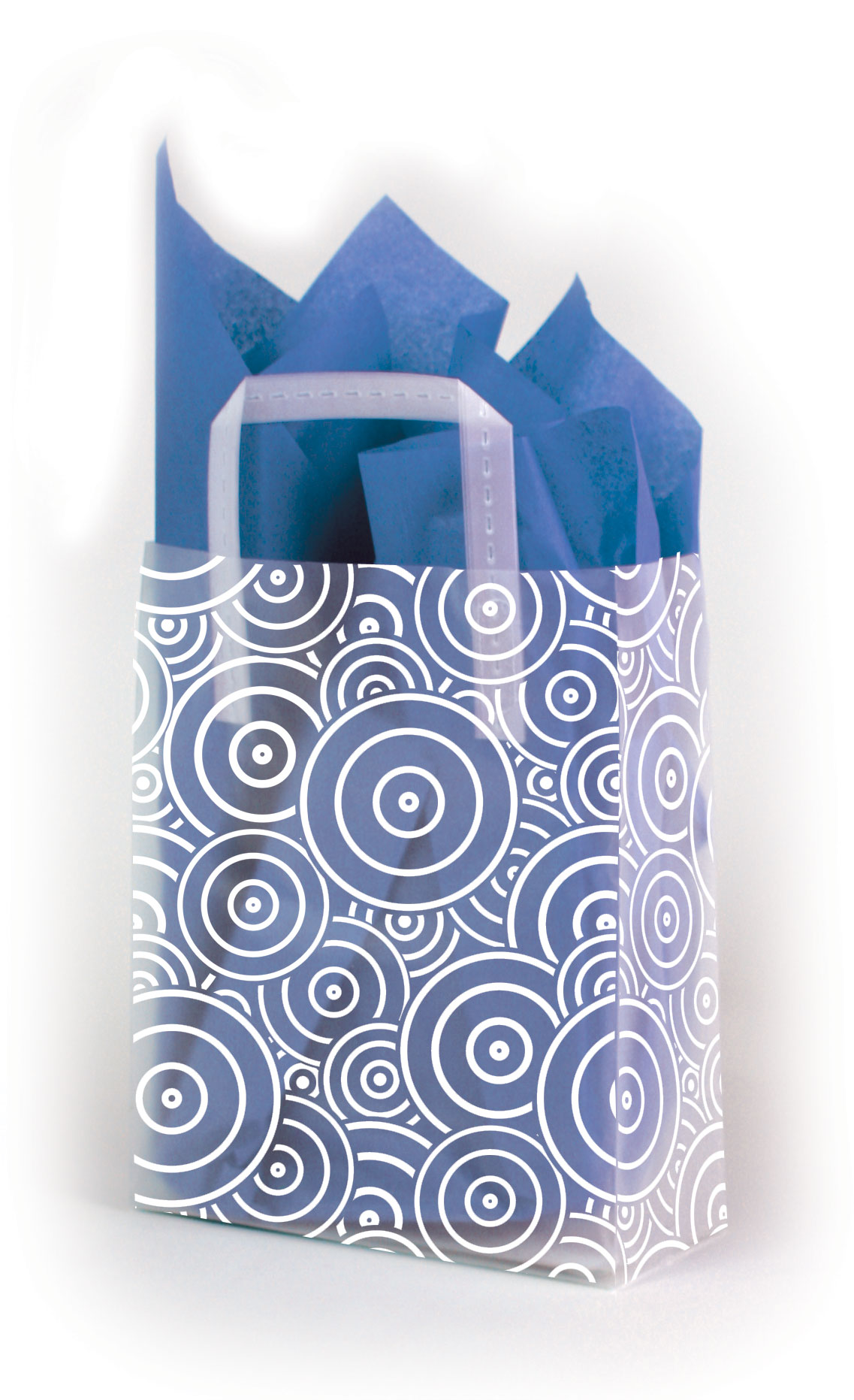 Concentric Circles Frosted Shopping Bags