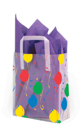 Party Frosted Shopping Bags