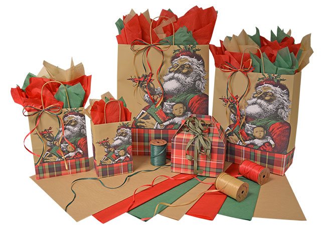 Father Christmas Shopping Bags
