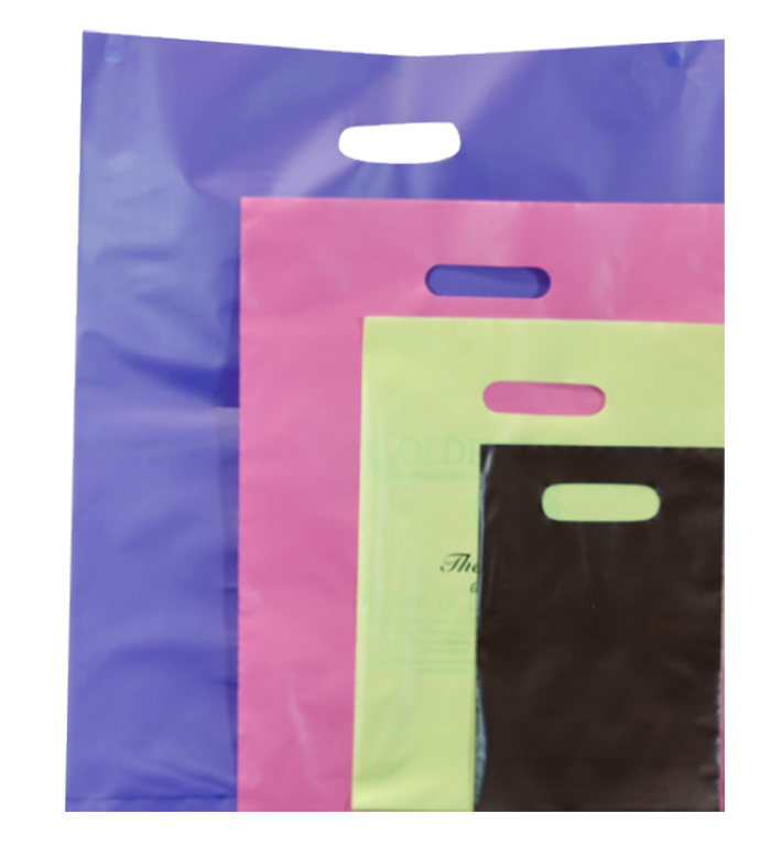 Frosted Tint Merchandise Bags (Colors)