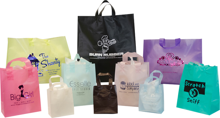 Frosted Tint Shopping Bags (Colors)