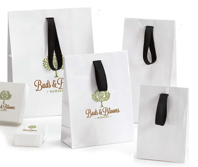 Gloss European Shopping Bags with Flap Closure