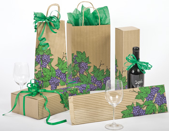 Grapes Paper Shopping Bags