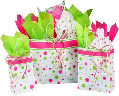 Hip Dots Paper Shopping Bags