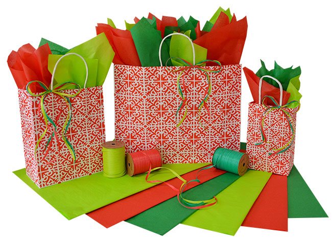 Holiday Parterre Shopping Bags