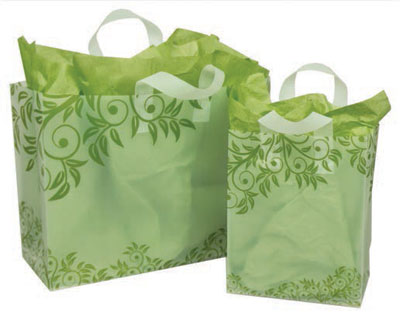 Lantana Frosted Shopping Bags