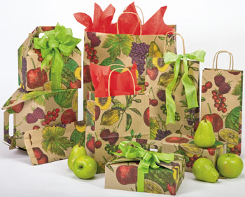 Natural Fruit Paper Shopping Bags
