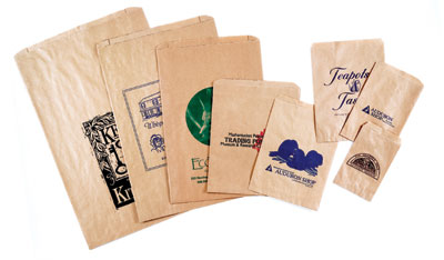 Natural Kraft Paper Merchandise Bags
