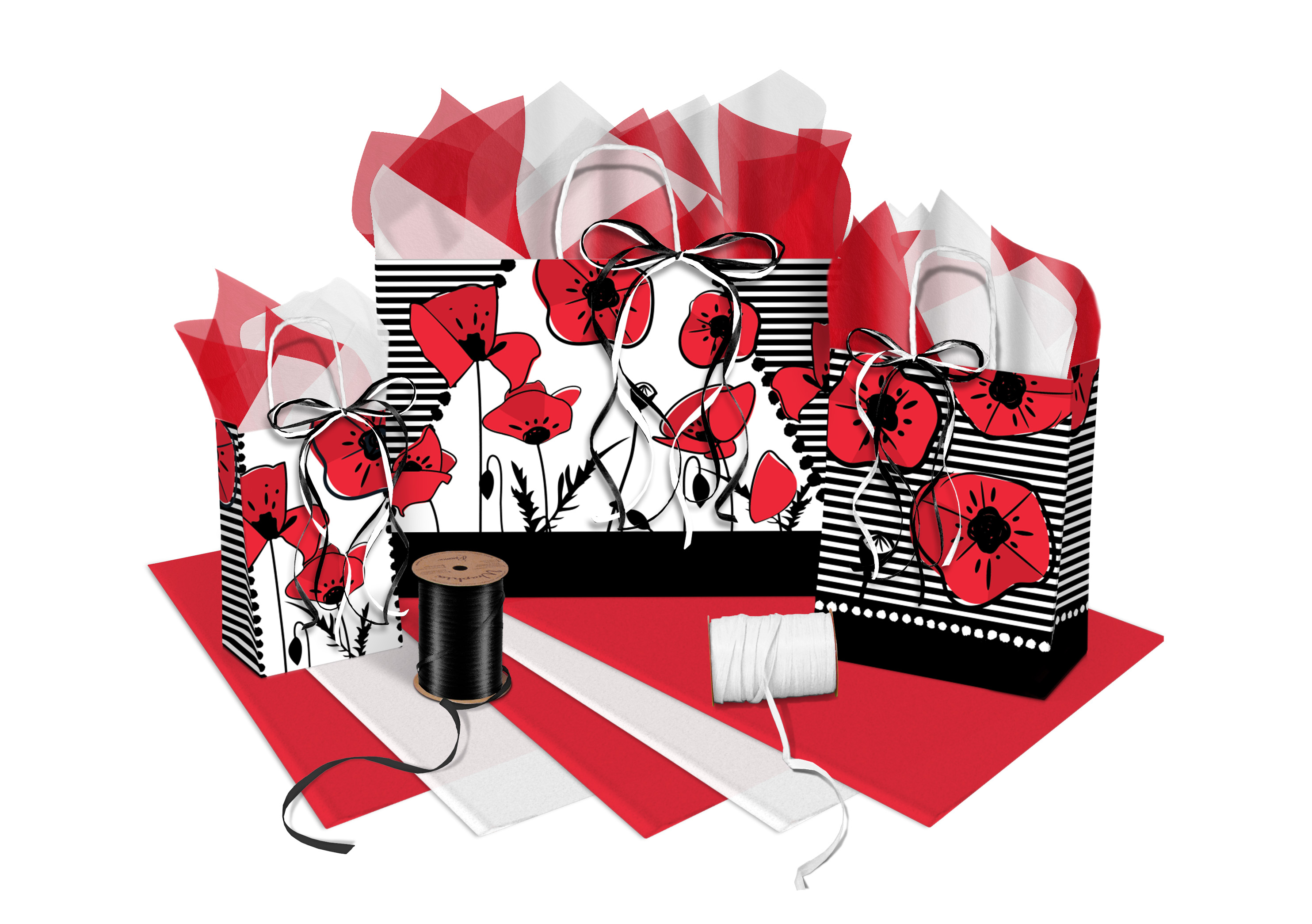 Poppies Shopping Bags