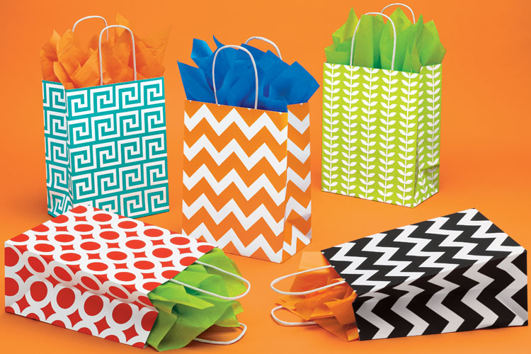 Bright Everyday Paper Shopping Bags