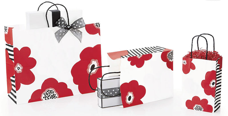 Poppy Paper Shopping Bags