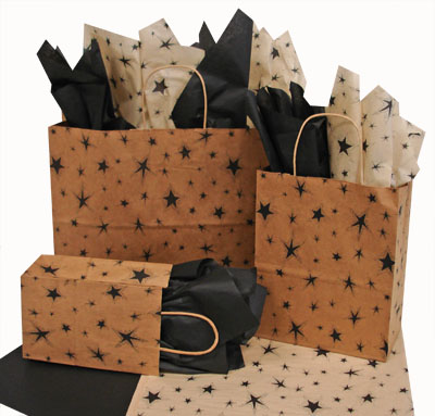 Primitive Star Black Paper Shopping Bags