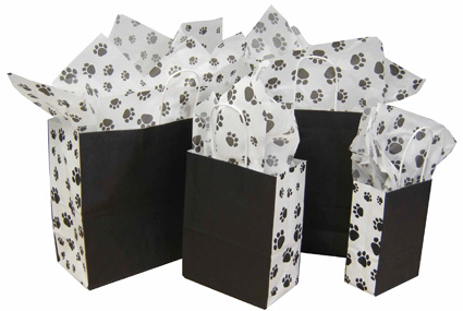 Puppy Paws Paper Shopping Bags