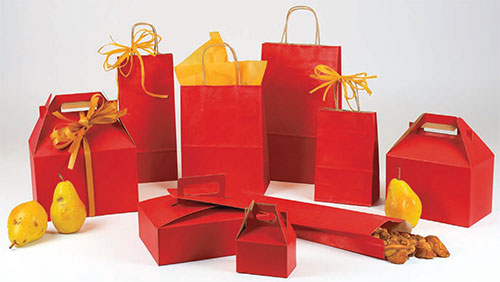 Really Red Paper Shopping Bags