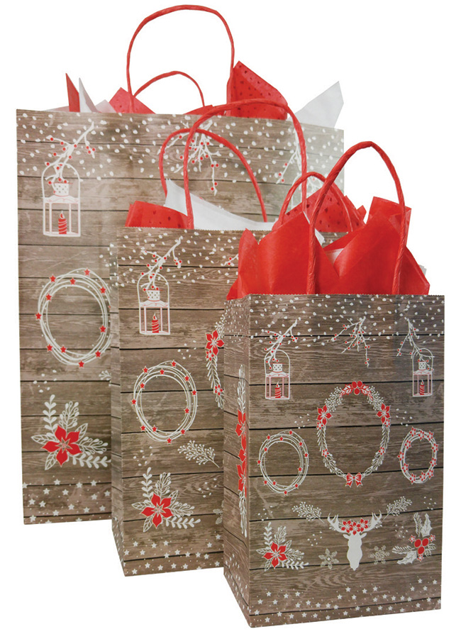 Shabby Chic Paper Shopping Bags