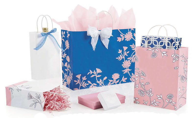 Vintage Beauty Paper Shopping Bags