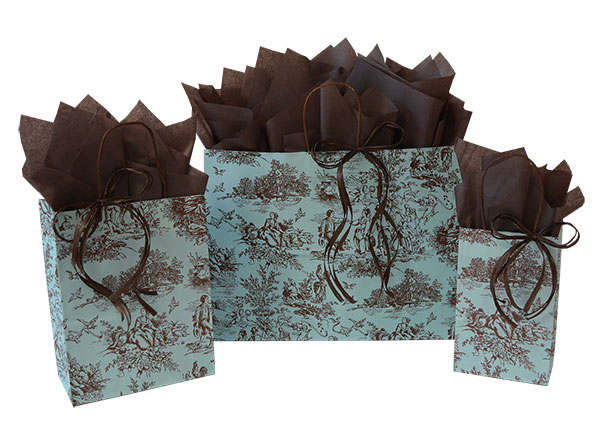 Vintage Country Paper Shopping Bags