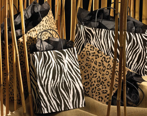 Zebra and Leopard Paper Shopping Bags