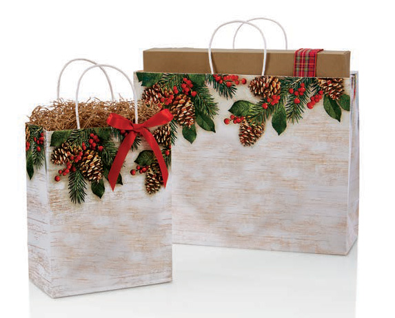 Good Tidings Paper Shopping Bags