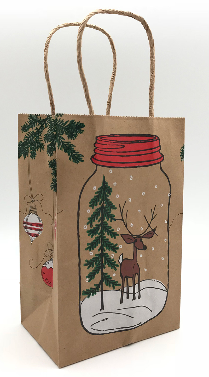 Mason Jar Deer Shopping Bags