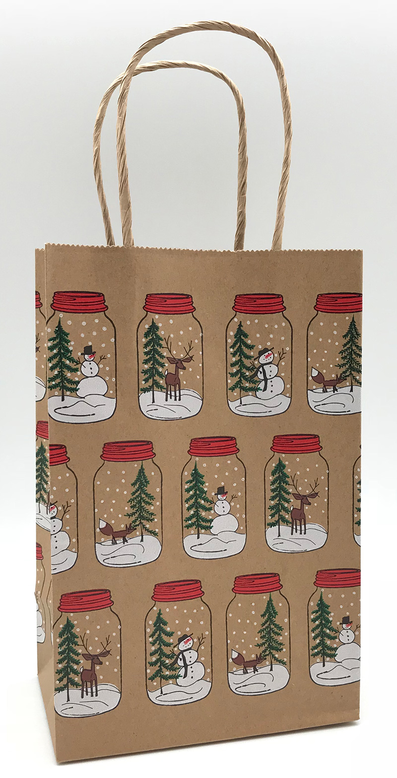 Mason Jar Scatterprint Shopping Bags