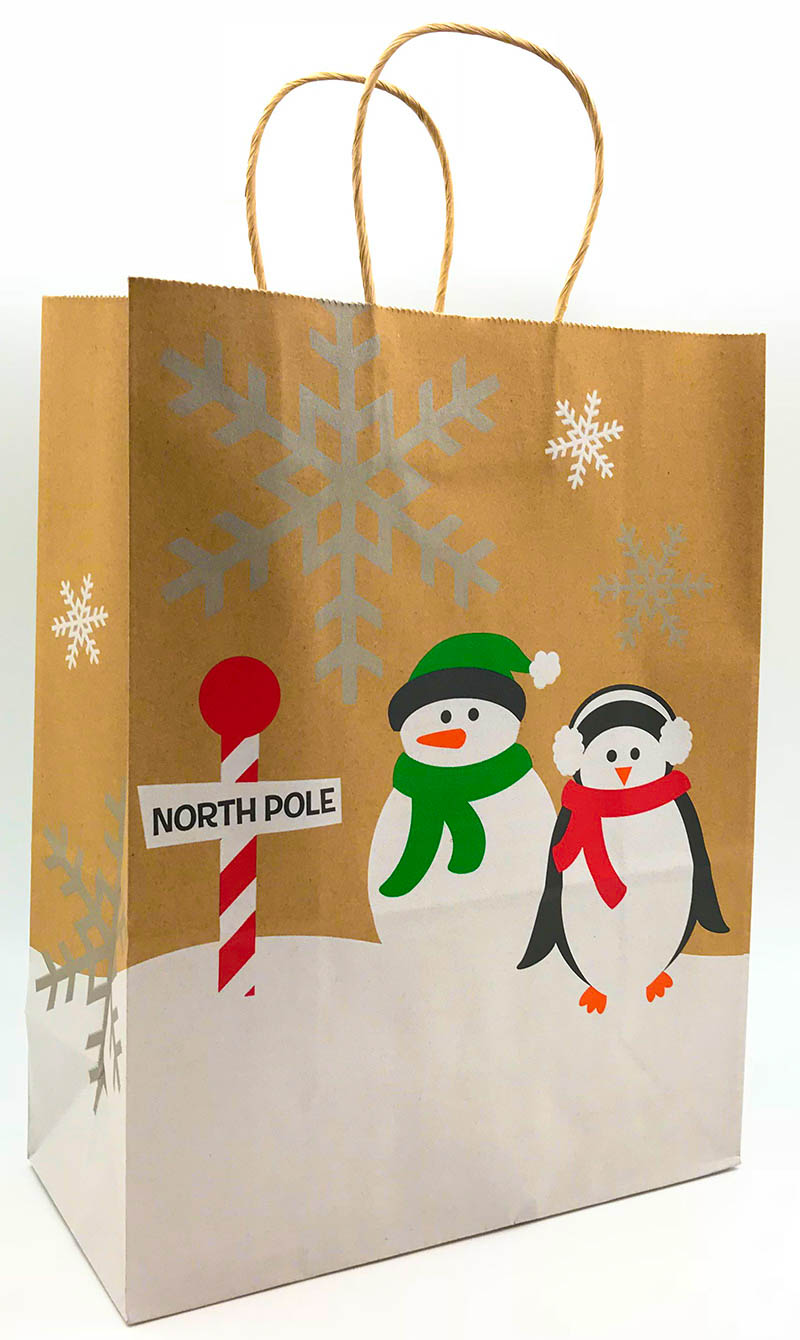 Whimsy Penguins Shopping Bags