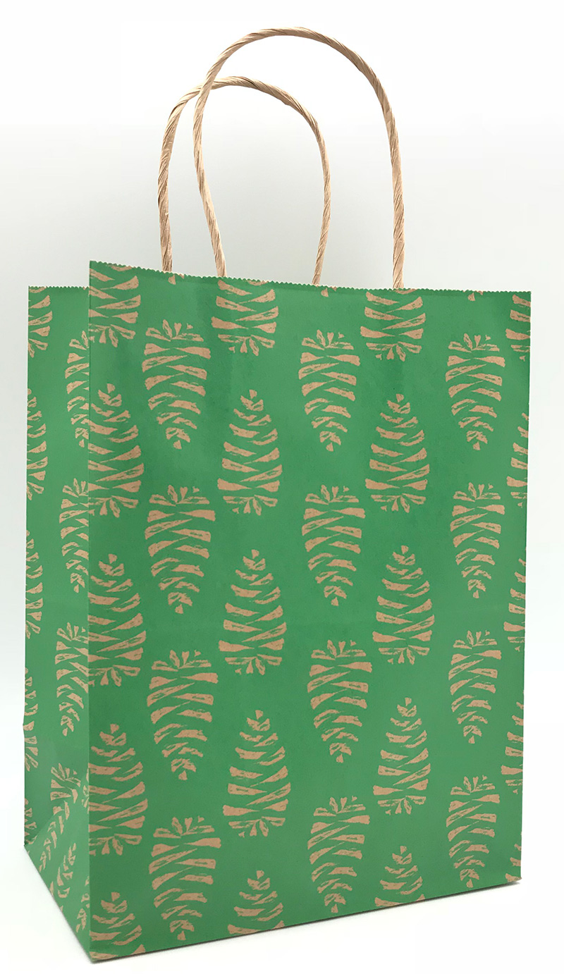 Pine Cone Shopping Bags