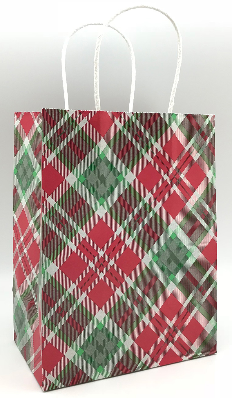 Plaid Shopping Bags