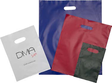 Frosted Solid Color Merchandise Bags