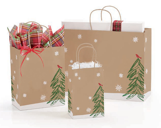 Peaceful Perch Paper Shopping Bags