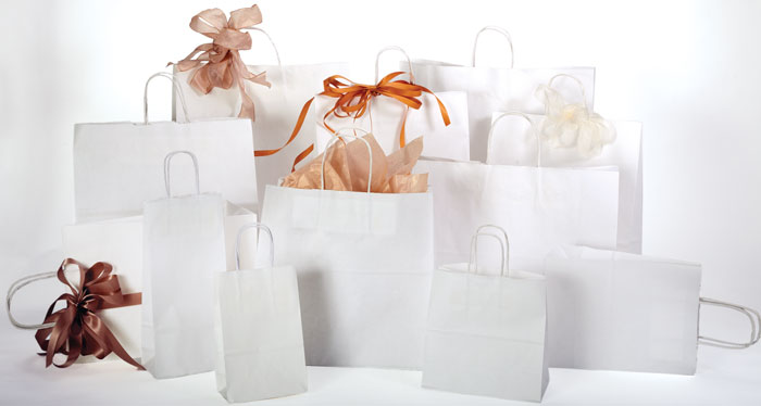 White Kraft Shopping Bags