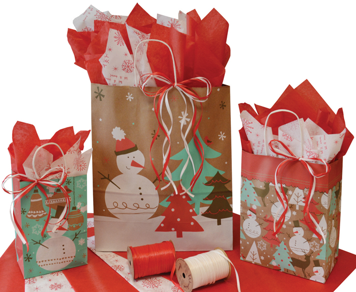 Winter Frost Paper Shopping Bags