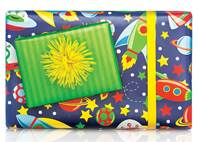 Aliens in Space Gift Wrap Paper (Reversible)