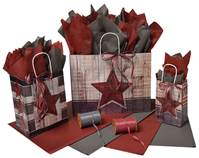 Barn Star Paper Shopping Bags  (Pup)