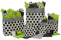 Black Dots on White Paper Shopping Bags (Queen)