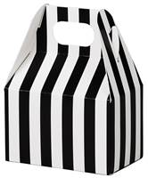 Black & White Stripes Mini Gable Box Gable Boxes