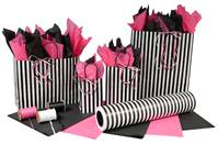 Black & White Stripes Paper Shopping Bags (Pup)