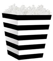 Black and White Stripes Sweet Treat Box Sweet Treat Boxes, Gift Basket Packaging