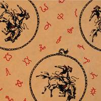 Bucking Horse Gift Wrap Paper