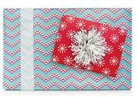 Candy Cane Gift Wrap Paper (Reversible)