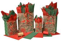 Christmas Cardinal Paper Shopping Bags (Pup)